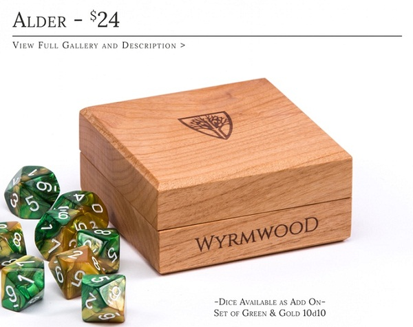 While definitely not a necessity, these Dice holders are beyond beautiful