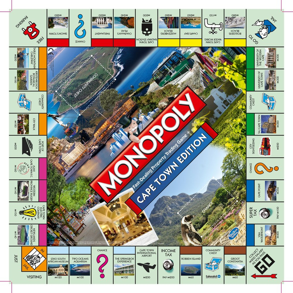 Monopoly: Cape Town Edition - The Board