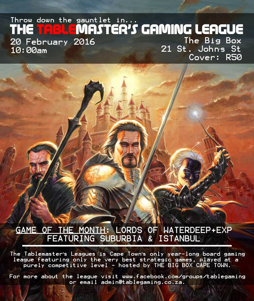 Tablemaster's Gaming League