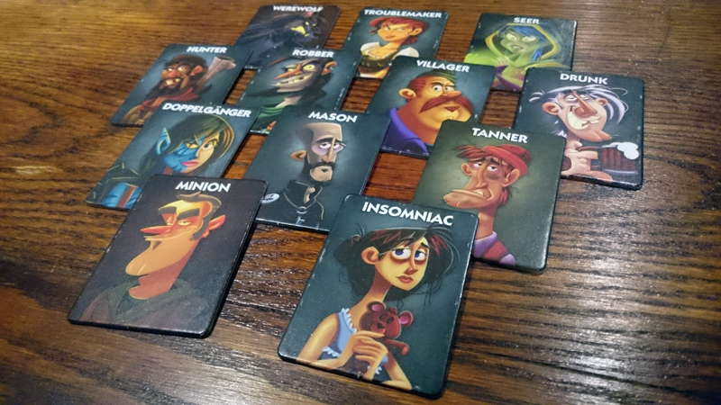 All the different character cards