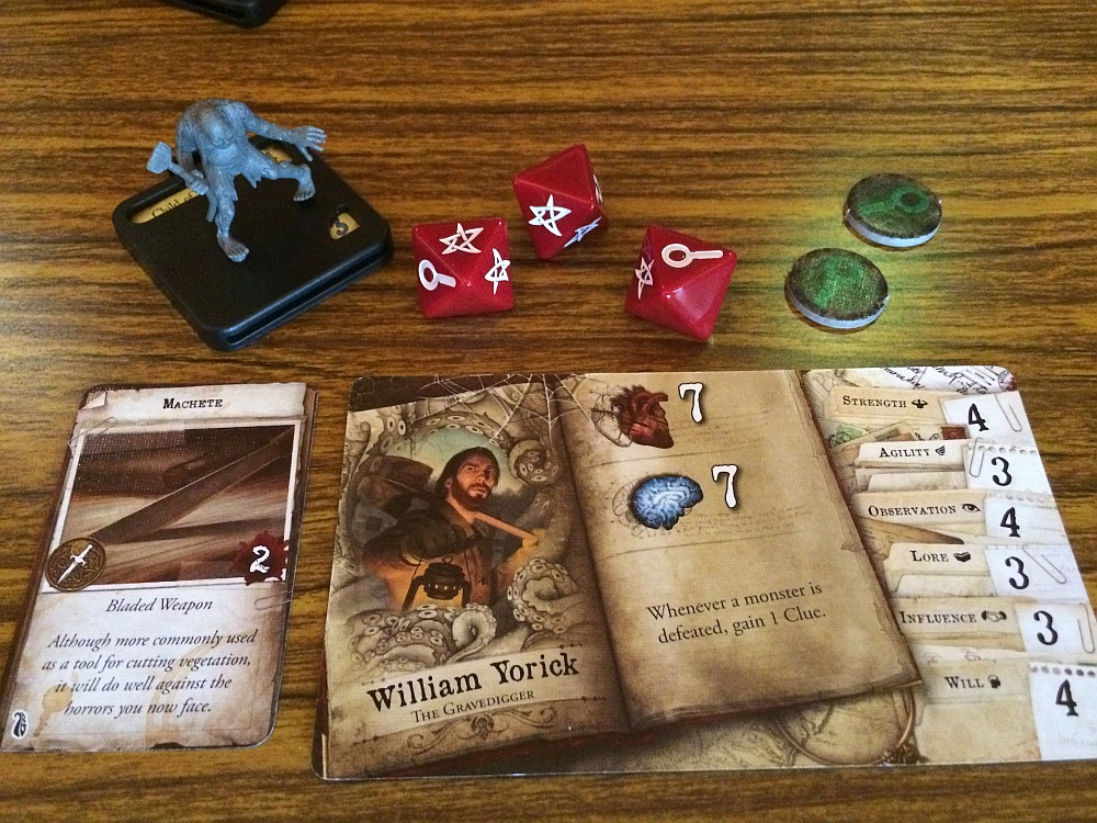 Character Sheet and Rolls - Mansions of Madness