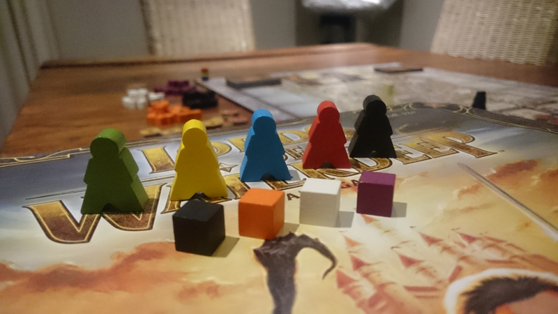 Waterdeep wooden characters